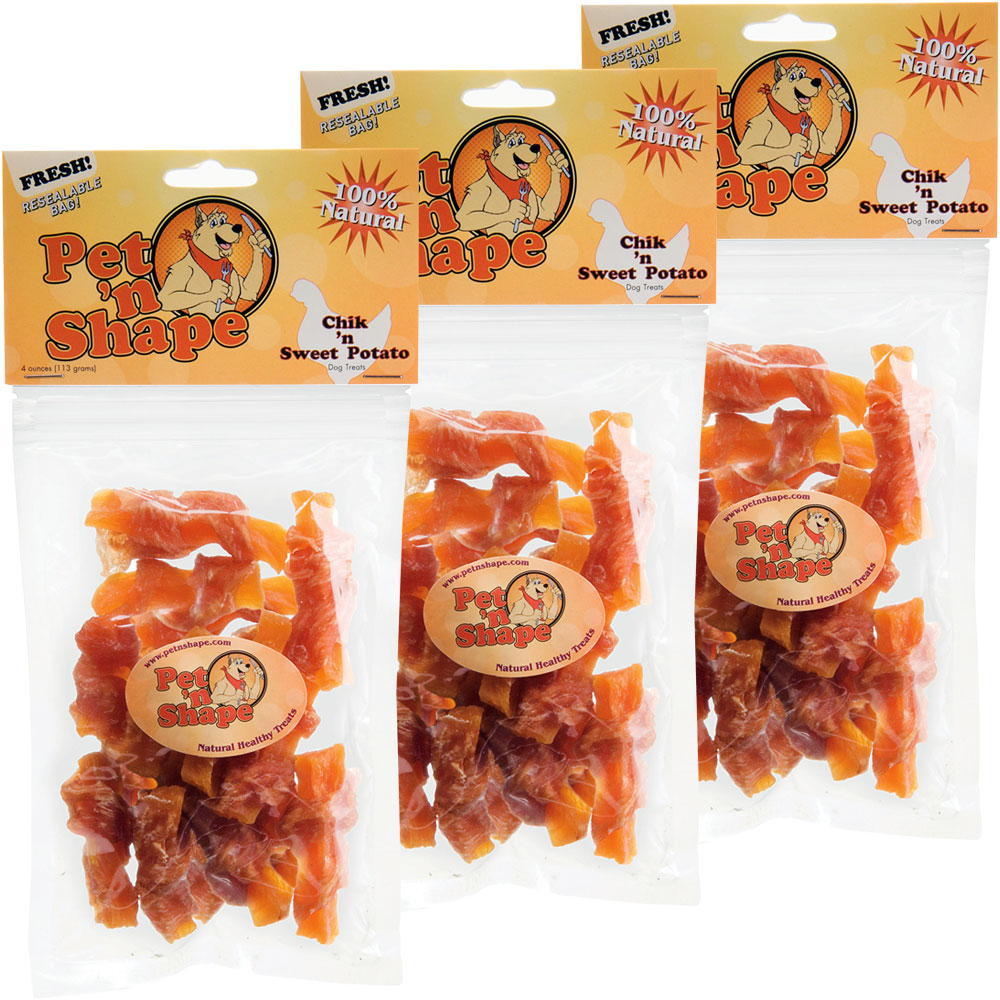 3 Pack Pet 'n Shape Chik 'n Sweet Potato - 12 oz