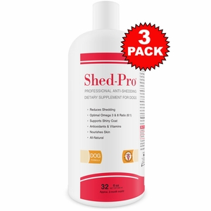 3-PACK Shed Pro for DOGS (96 fl. oz.)