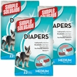 3 PACK Simple Solution Diapers M (36 Diapers)