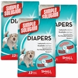 3 PACK Simple Solution Diapers S (36 Diapers)