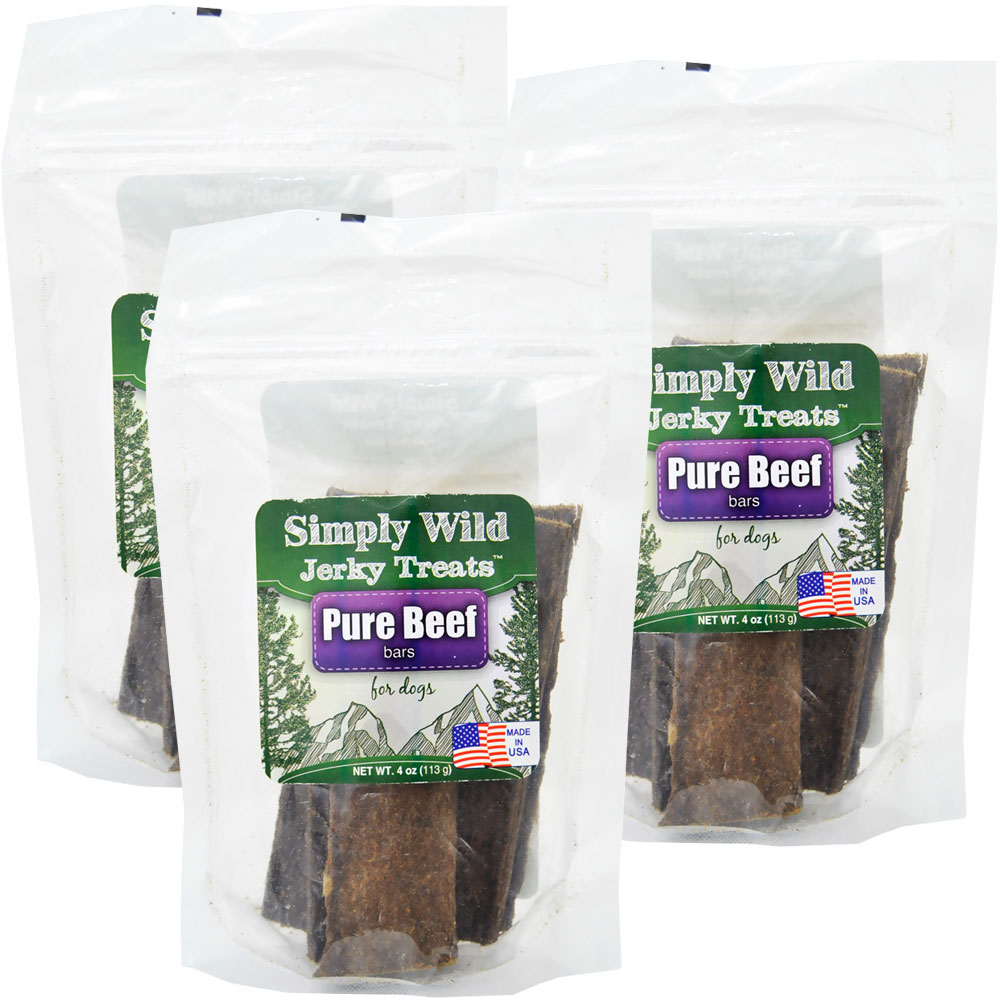 Simply Wild Jerky Treats - Beef Bars (4 oz)