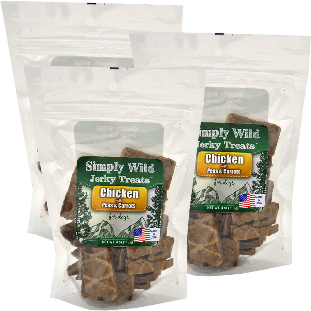 Simply Wild Jerky Treats - Chicken with Peas & Carrots (4 oz)