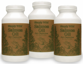 3-PACK Simply Wild Salmon Oil Gel Capsules (750 Caps)