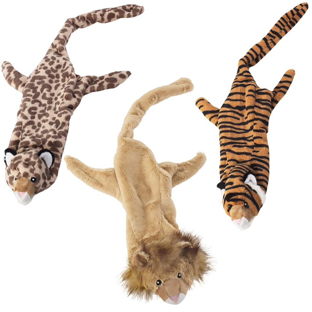 "3-PACK Spot Skinneeez Stuffing Free Jungle Cats Assortment (25"")"