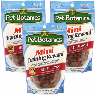 3-PACK Mini Training Reward Treats - BEEF