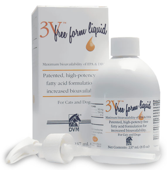3V Free Form Liquid  for Dogs and Cats (8 fl oz)