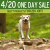 4/20 One Day Sale