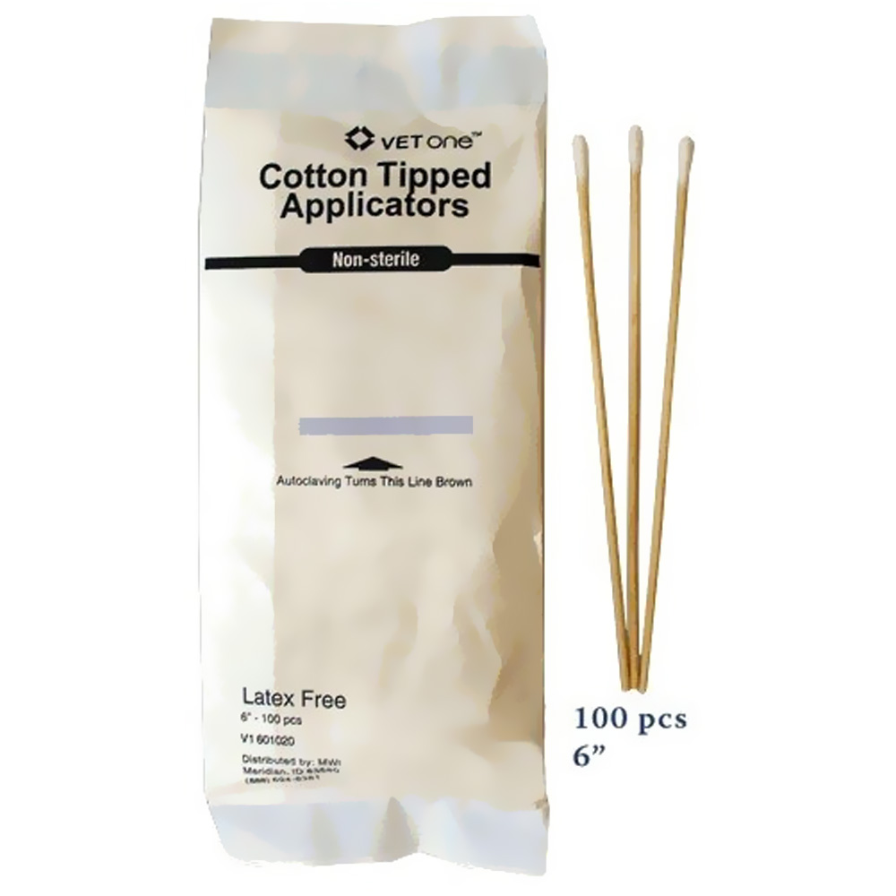 "6"" COTTON TIPPED APPLICATORS (100 COUNT)"