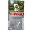6 MONTH K9 ADVANTIX II TEAL Medium Dog (for dogs 11-20 lbs)