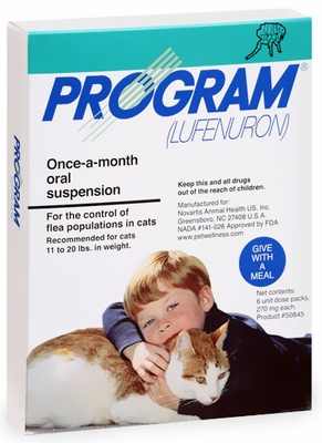6 MONTH PROGRAM Green: For cats 11-20 lbs (ORAL SUSPENSION)