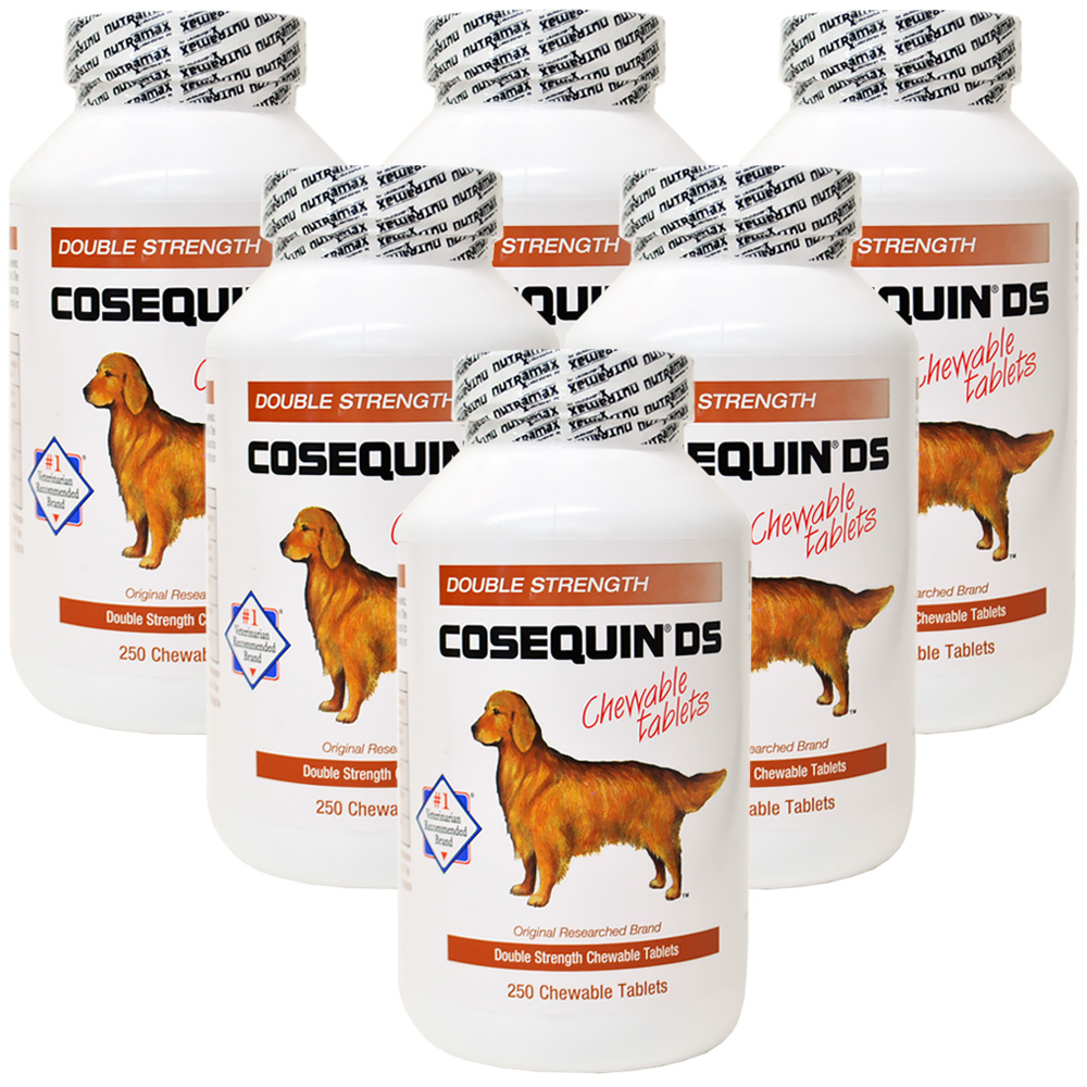6-PACK Cosequin DS 250 Count (1500 tablets) CHEWABLES
