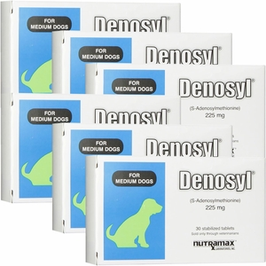 6 Pack Denosyl for dogs over 25 lbs (180 tablets) 225 mg