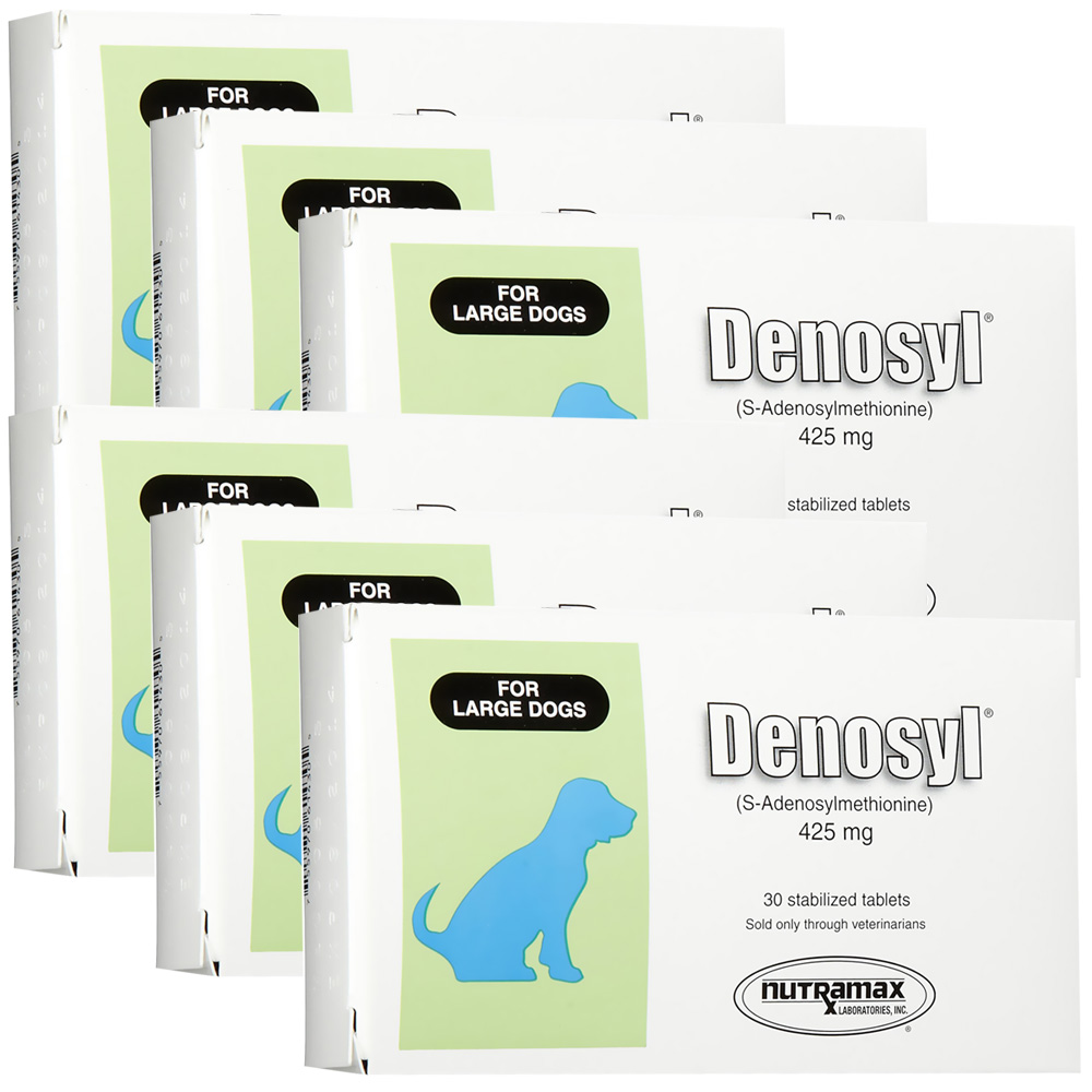 6 Pack Denosyl for dogs over 35 lbs (180 tablets) 425 mg