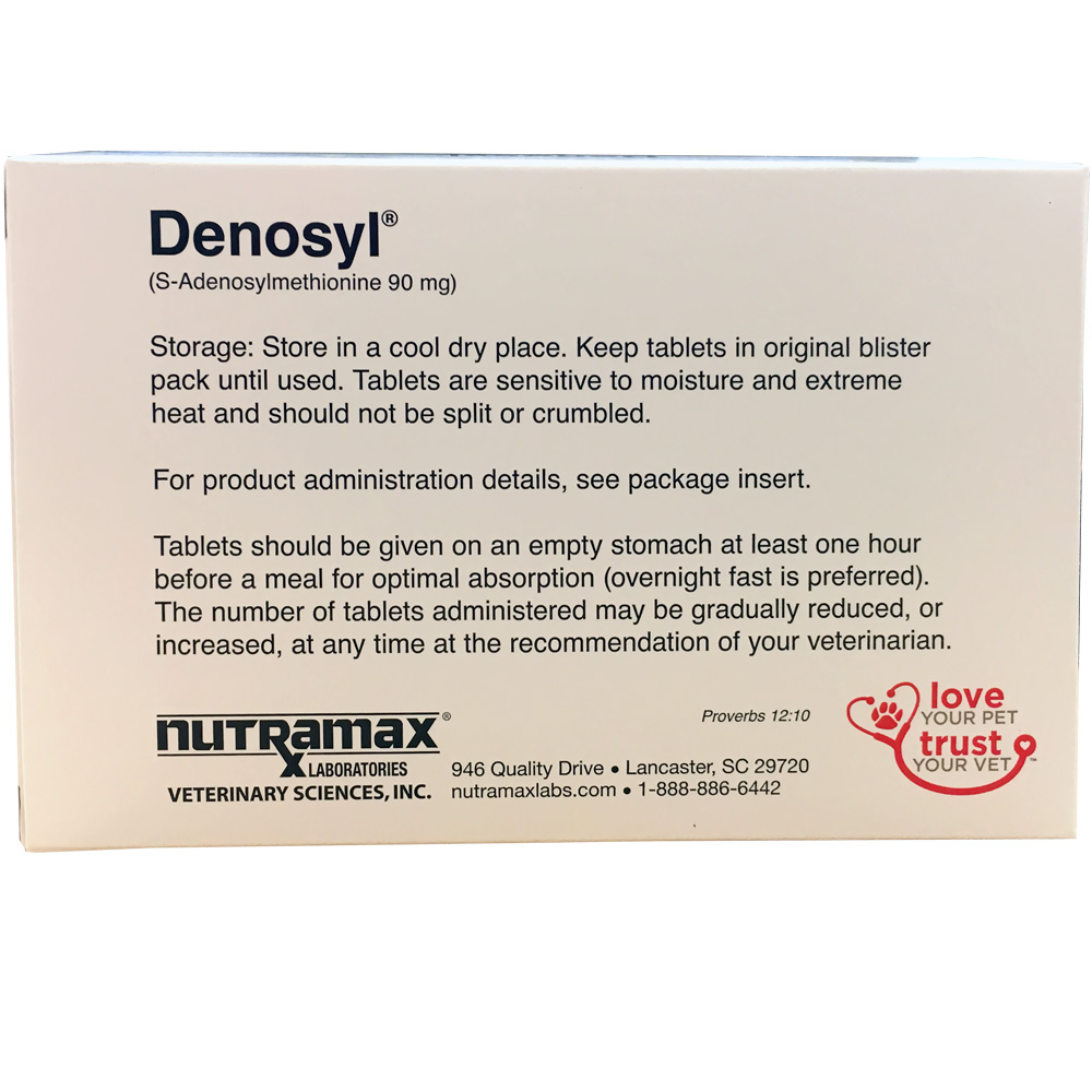 6 Pack Denosyl for small dogs and cats (180 tablets) 90 mg