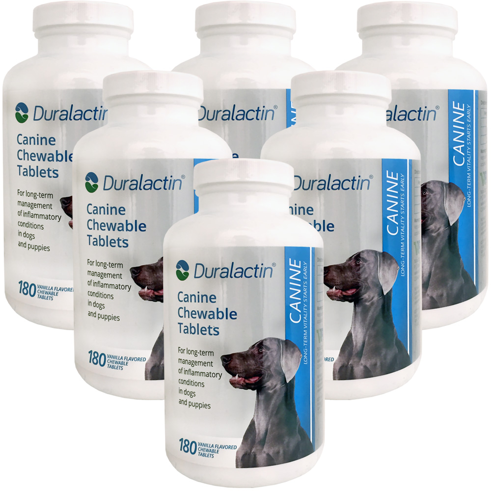 6-PACK Duralactin Canine 1000 mg (1080 tablets)