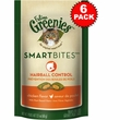 6-PACK Feline Greenies SMARTBITES Hairball Control Chicken (12.6 oz)
