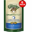 6-PACK Feline Greenies SMARTBITES Hairball Control Tuna (12.6 oz)