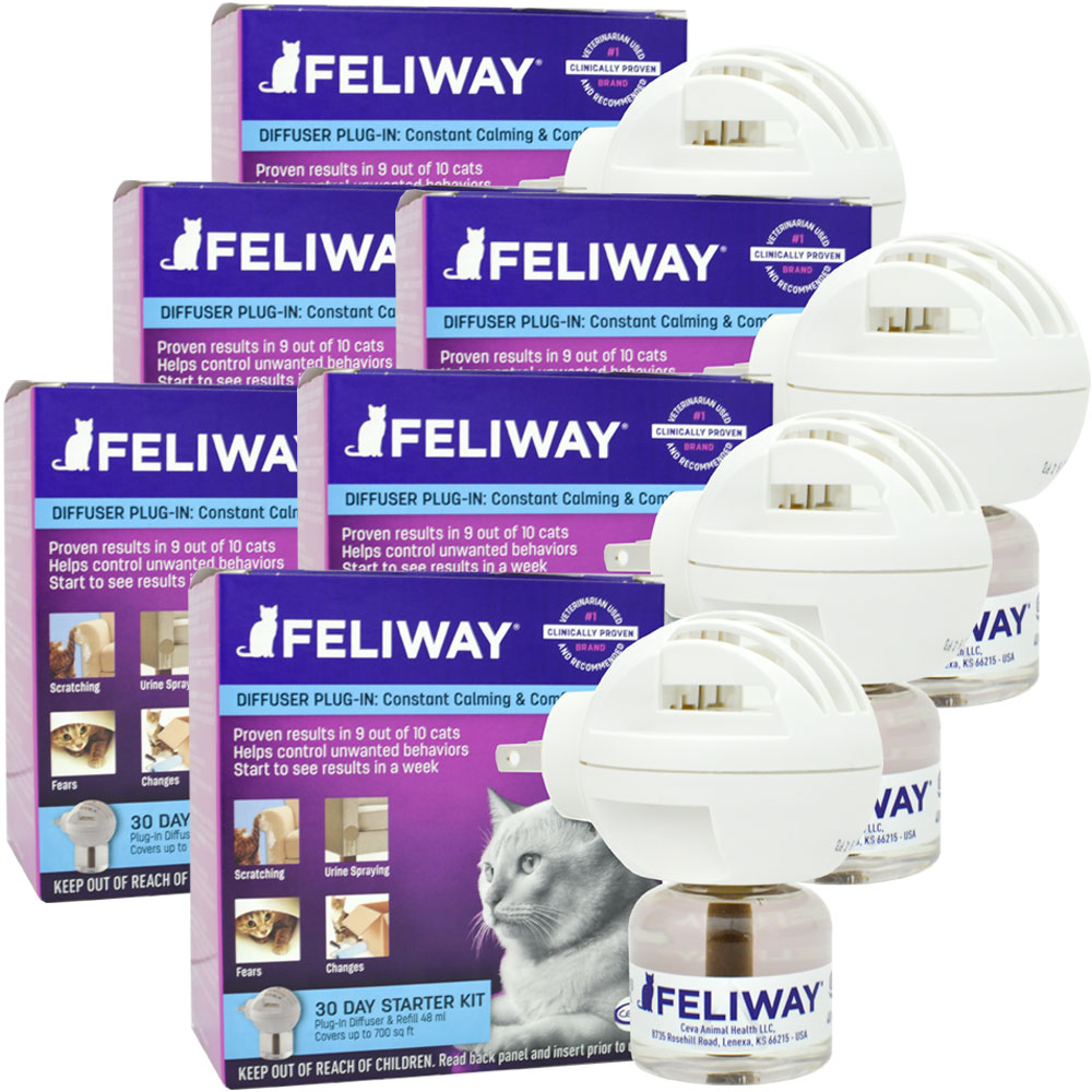 6 PACK Feliway Electric Diffuser (288 mL)