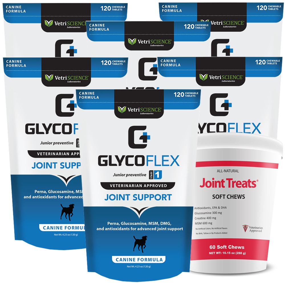 6 PACK Glyco Flex I (720 SOFT CHEWS) FREE Joint Treats