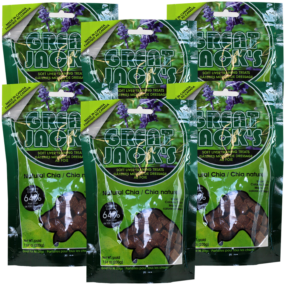 6-PACK Great Jack's Training Treats - Natural Chia (42 oz)