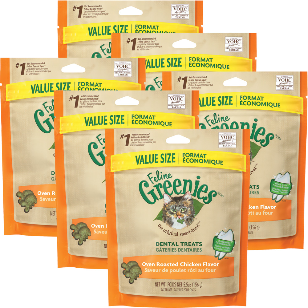 6-PACK Greenies Feline - CHICKEN (2.2 lbs)
