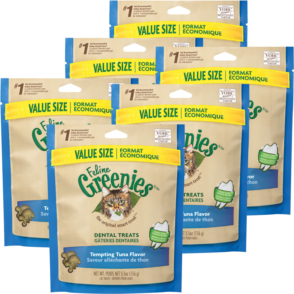 6-PACK Greenies Feline - TEMPTING TUNA (2.2 lbs)