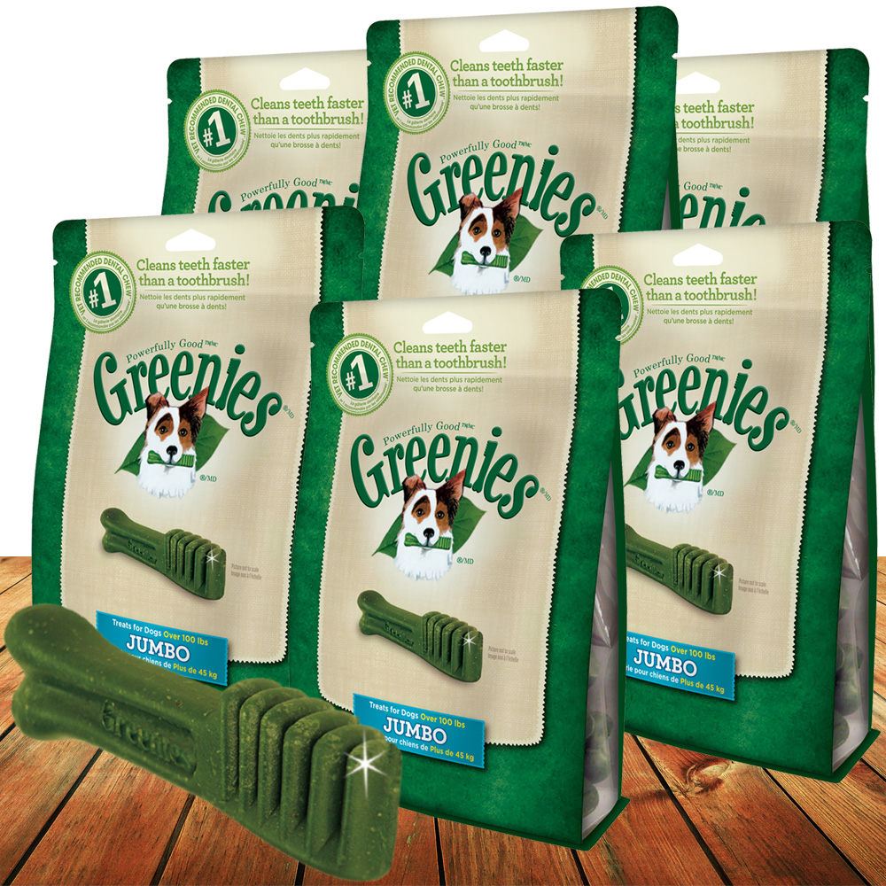 6 PACK Greenies JUMBO - Value Pack (24 bones total)