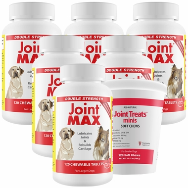 6-PACK Joint MAX® Double Strength (720 Chewable Tablets) + FREE Joint Treats® Minis