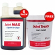 6-PACK Joint MAX Liquid for Dogs (192 fl oz) + FREE Joint Treats