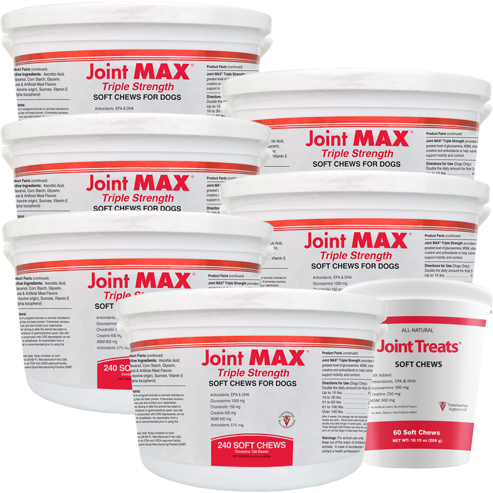 6-PACK Joint MAX® Triple Strength Soft Chews (1440 Chews) + FREE Joint Treats®