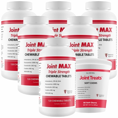 6-PACK Joint MAX® Triple Strength (720 Chewablet Tablets) + FREE Joint Treats®