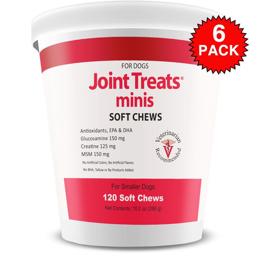 6 Pack Joint Treats MINIS (720 Soft Chews)