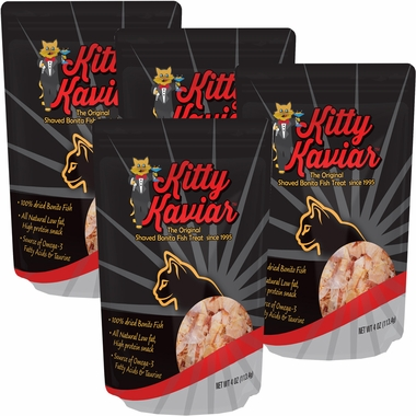 4-PACK Kitty Kaviar Shaved Bonita Fish Treats (16 oz)