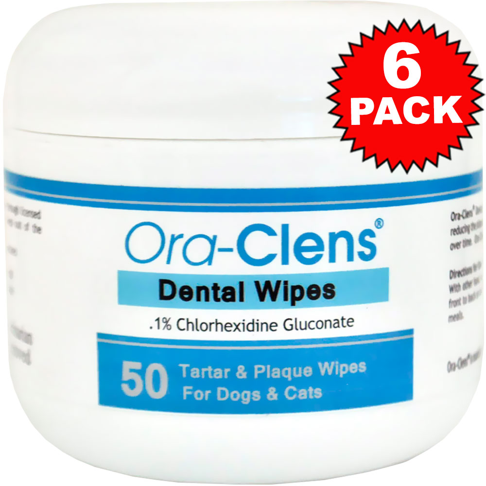6-PACK Ora-Clens Dental Wipes (300 Count)