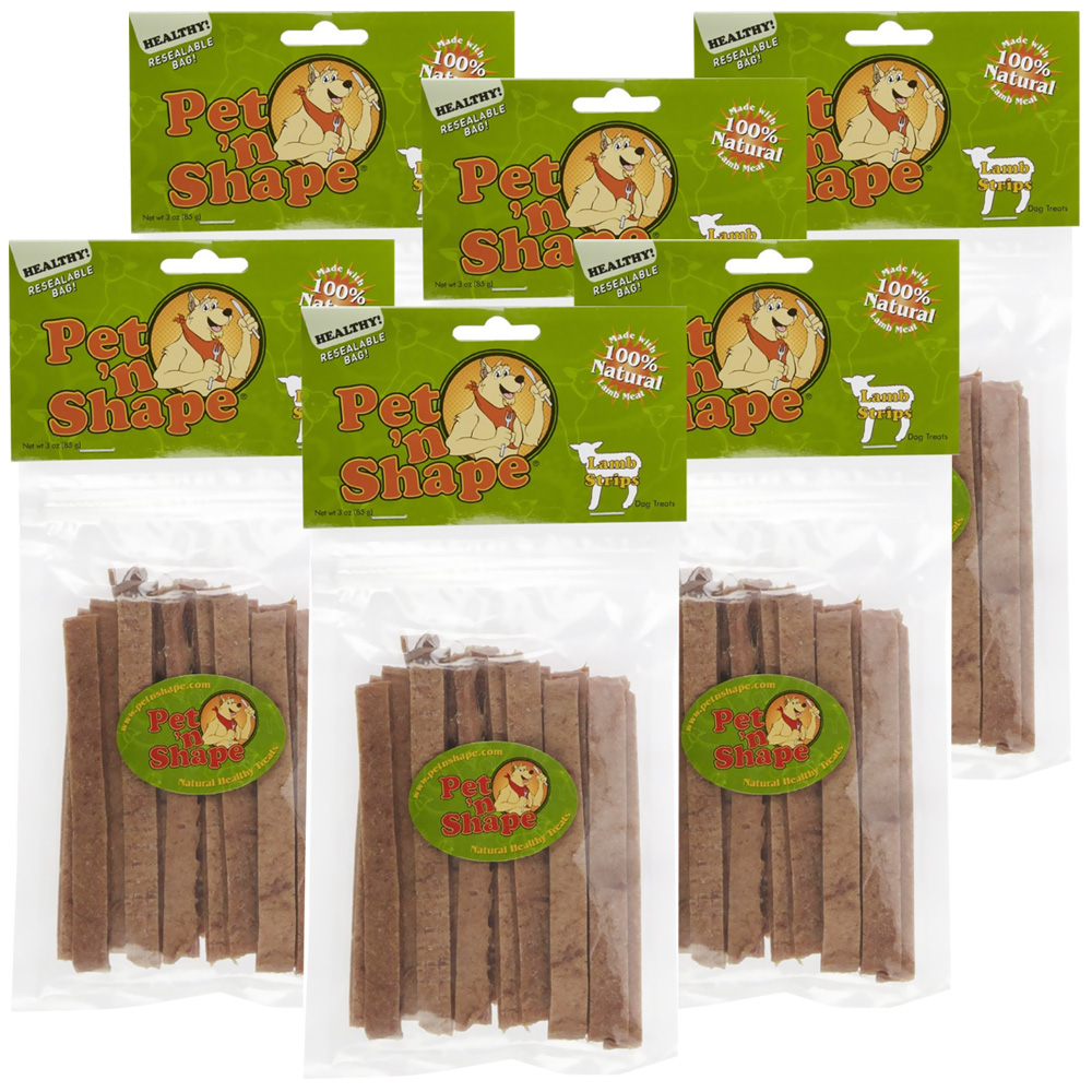 6 PACK Pet 'n Shape Lamb Strips Dog Treats (18 oz)