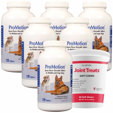6 PK ProMotion for M/L Dogs (720 tablets)+ FREE Joint Treats