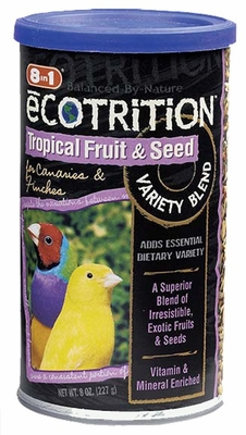 8 in 1 Ecotrition Tropical Fruit and Seed for Canaries & Finches (8 oz)