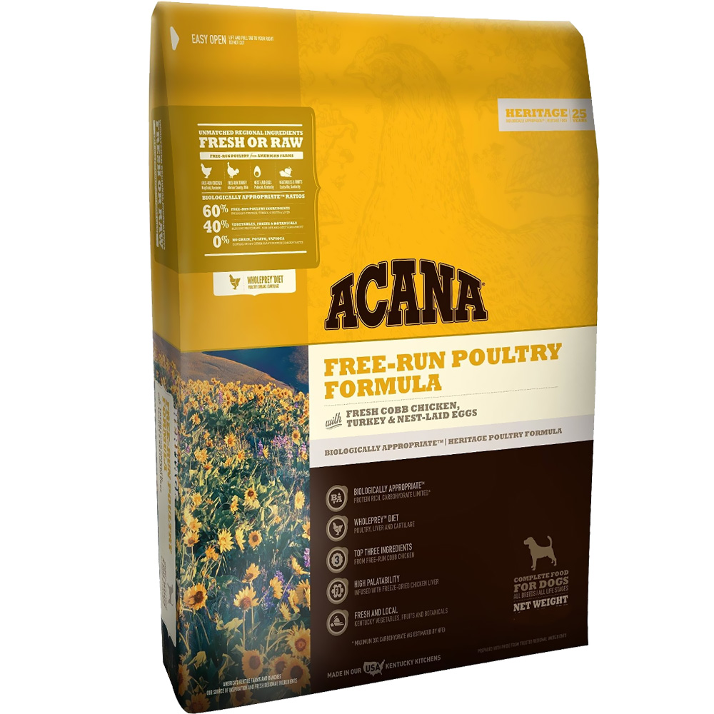 Acana Heritage Free-Run Poultry Dog Formula (25 lb)