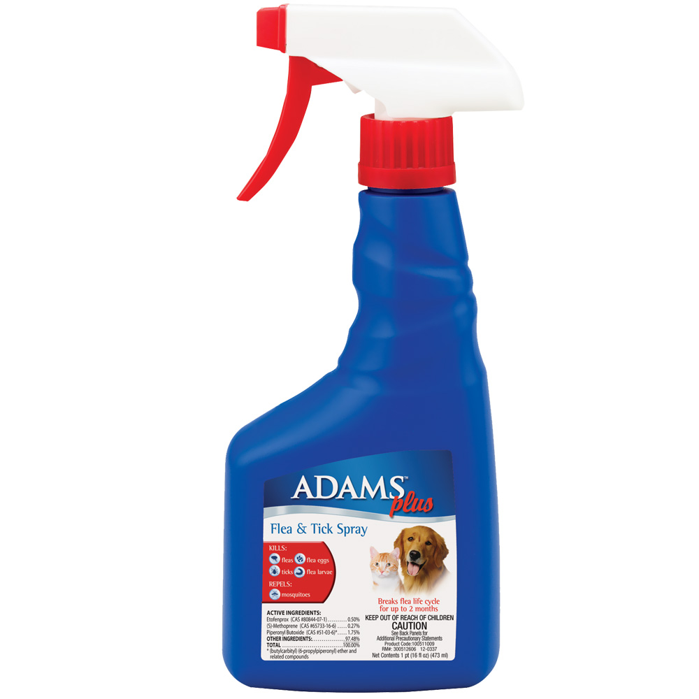 Adams Plus Flea & Tick Mist for Cats and Dogs (16 oz)