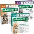 Advantage flea for Cats under 5 pounds, cats under 9 pounds, and cats over 9 pounds