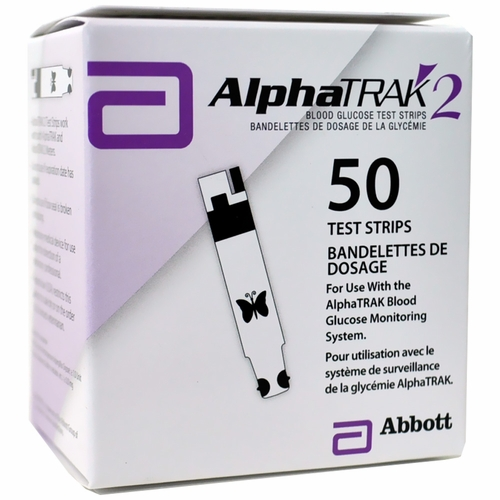 AlphaTRAK 2 Blood Glucose TEST STRIPS - 50 Count
