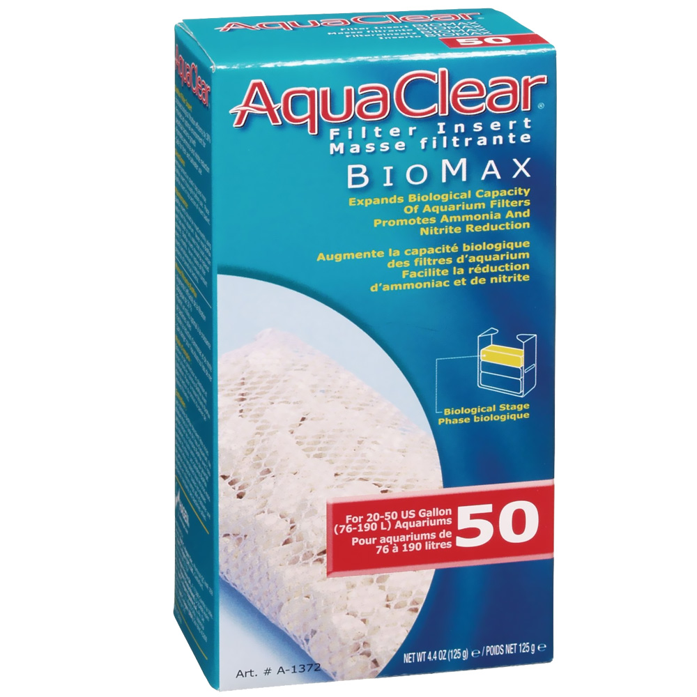 AquaClear 50 Filter Insert Biomax (4.4 oz)