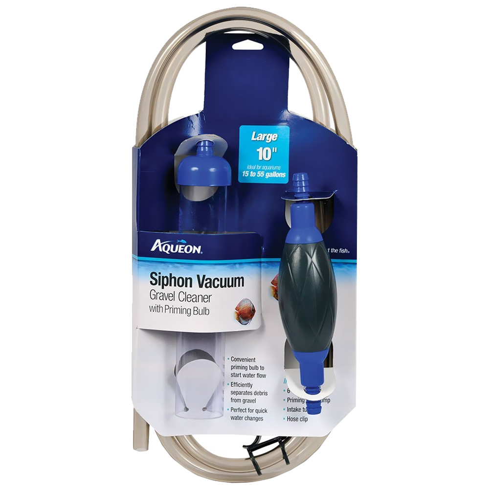 Aqueon Siphon Vacuum Aquarium Gravel Cleaner with Bulb 10""