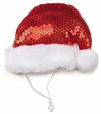 Aria Sequin Santa Hat