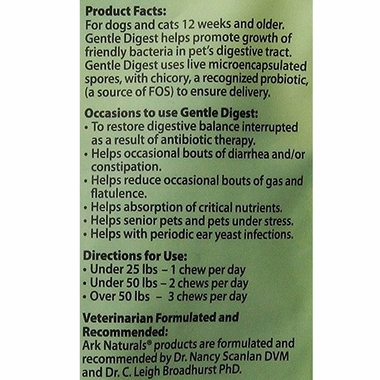 Ark Naturals Gentle Digest Bite Size Soft Chews (120 count)