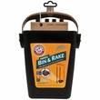 Arm & Hammer Swivel Bin & Rake - Black/Penny