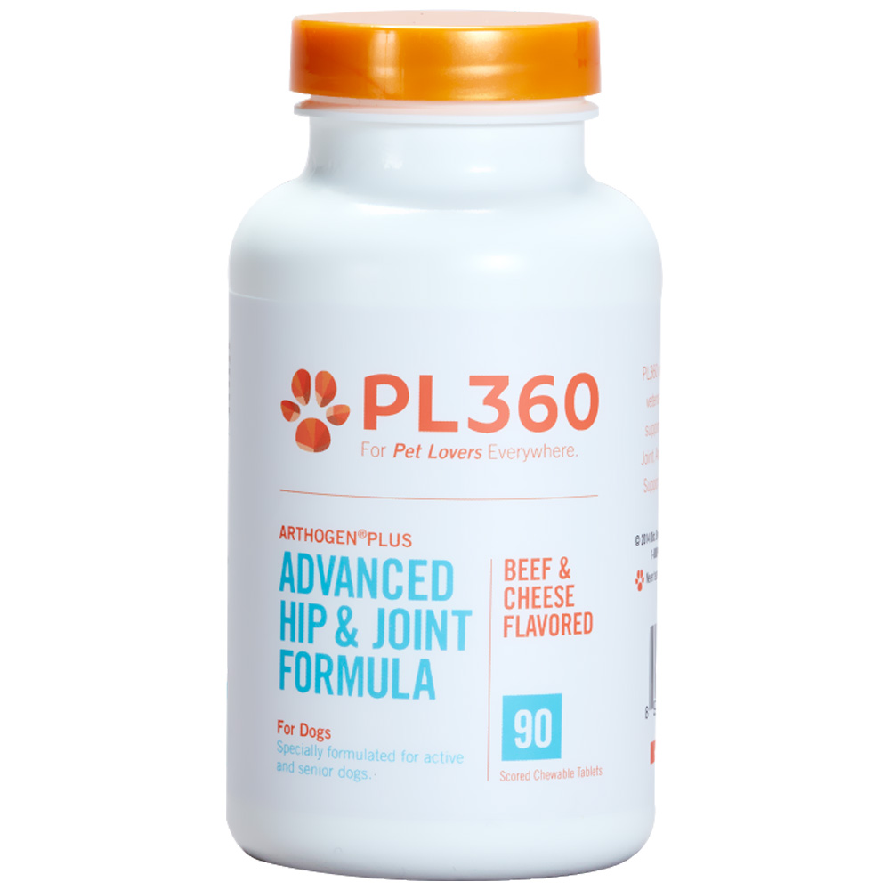 PL360 Arthogen® Advanced Hip & Joint Formula for Dogs - Beef & Cheese Flavor (90 Chewable Tablets)