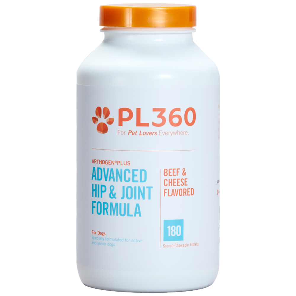 PL360 Arthogen® Advanced Hip & Joint Formula for Dogs- Beef & Cheese Flavor (180 Chewable Tablets)