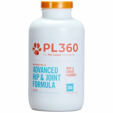 PL360 Arthogen Advanced Hip & Joint Formula for Dogs - Beef & Cheese Flavor (360 Chewable Tablets)