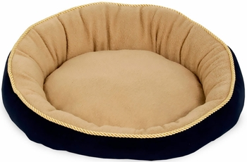 Aspen Pet Round Bed With Eliptical Bolster (18) - Assorted Colors